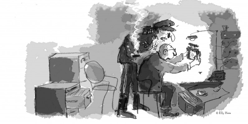 Afbeelding 7. Generaal en Hector met afstandsbediening-web